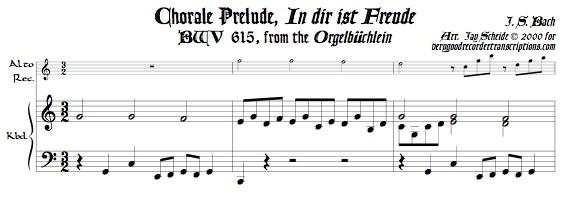 "Chorale Prelude, ""In dir ist Freude,"" BWV 615"