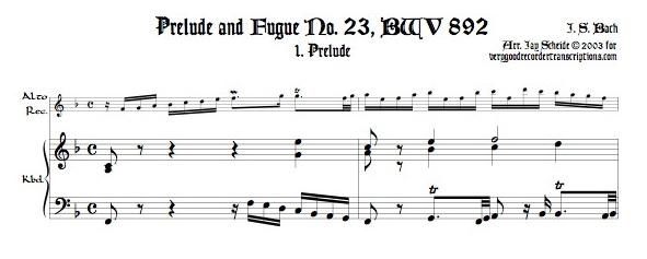 Prélude and Fugue No. 23, BWV 892