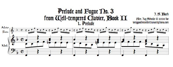 Prélude and Fugue No. 3, BWV 872