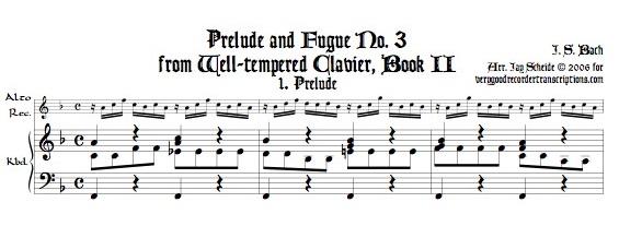 Prélude and Fugue No. 3, BWV 872