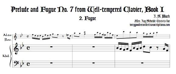 Fugue No. 7, BWV 852/2