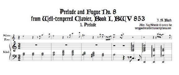 Prélude and Fugue No. 8, BWV 853