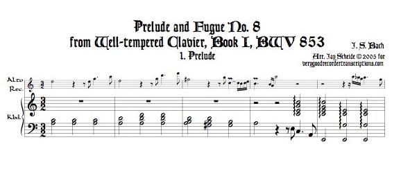 Prélude and Fugue No. 8, BWV 853