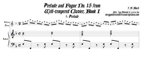 Prélude and Fugue No. 15, BWV 860