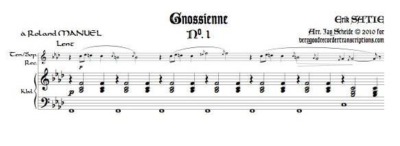 Gnossiennes 1-3 for Tenor or Soprano