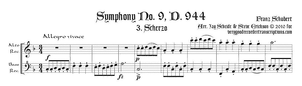 "Scherzo from Symphony No. 9, ""The Great C major"", D. 944"