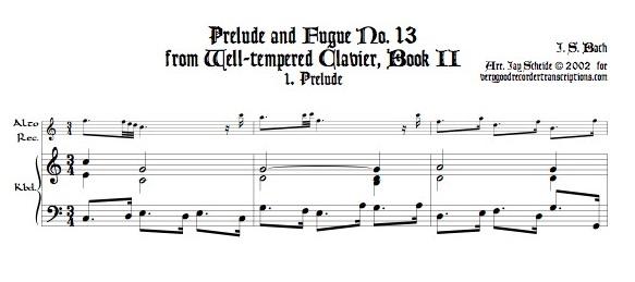 Prélude No. 13, BWV 882/1
