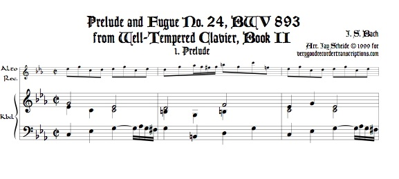 Prélude and Fugue No. 24, BWV 893