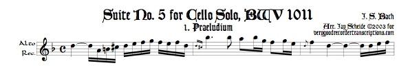 Præludium from Suite No. 5, BWV 1011