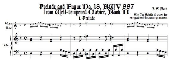 Prélude No. 18, BWV 887/1