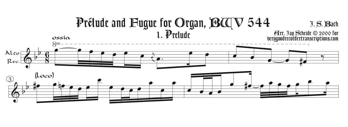 Prélude and Fugue, BWV 544