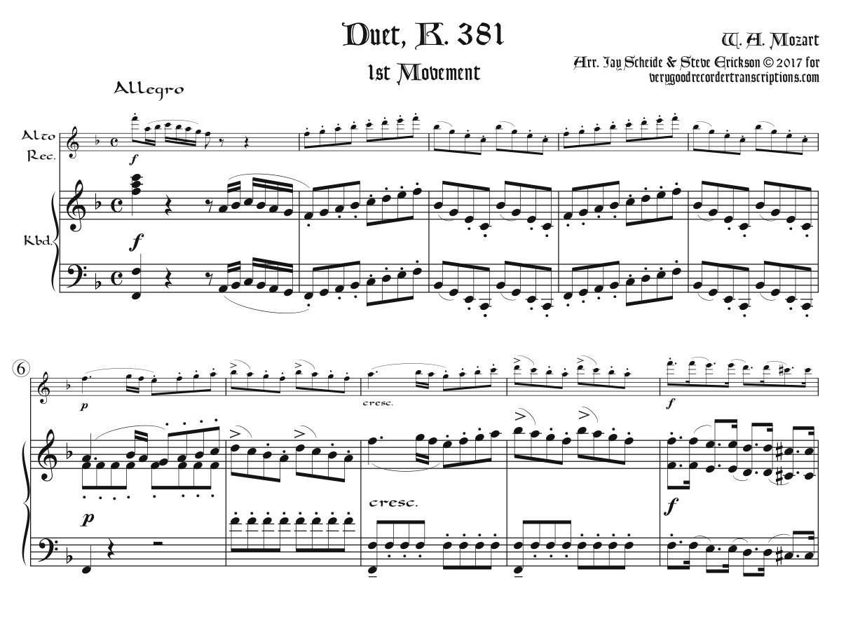 Duet, K. 381