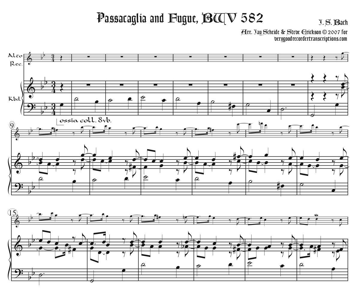 Passacaglia and Fugue, BWV 582