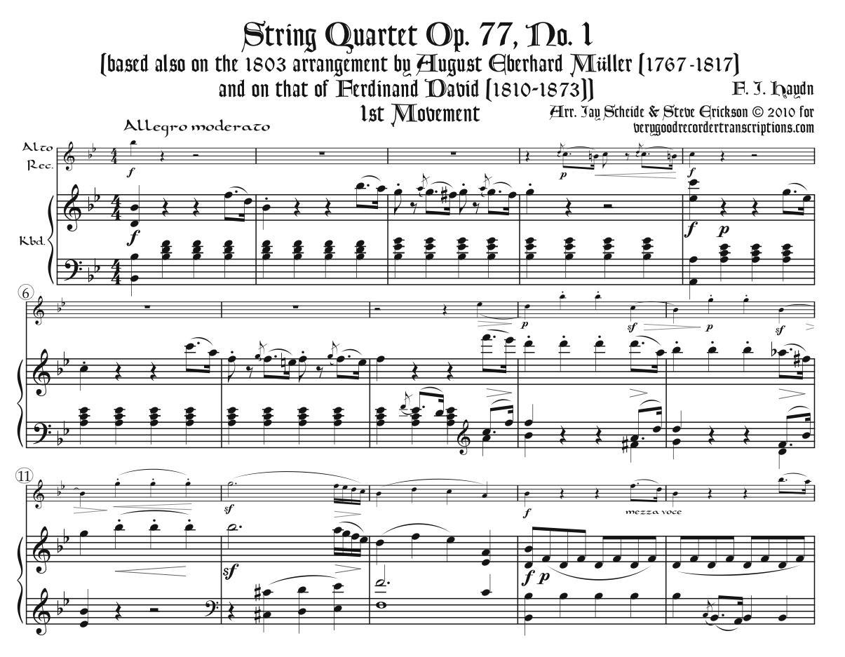 Quartet, Op. 77 No. 1