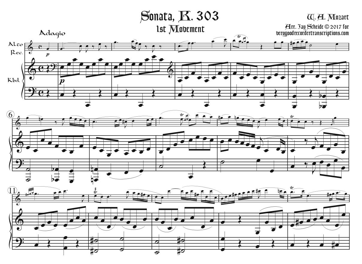 Sonata, K. 303