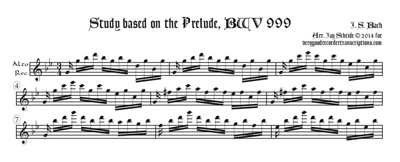Study based on BWV 999