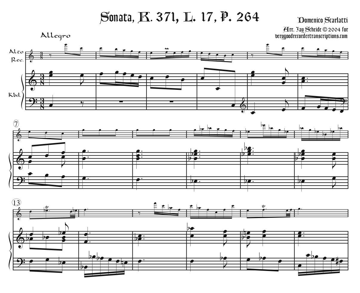Sonata, K. 371, L. 17, P. 264