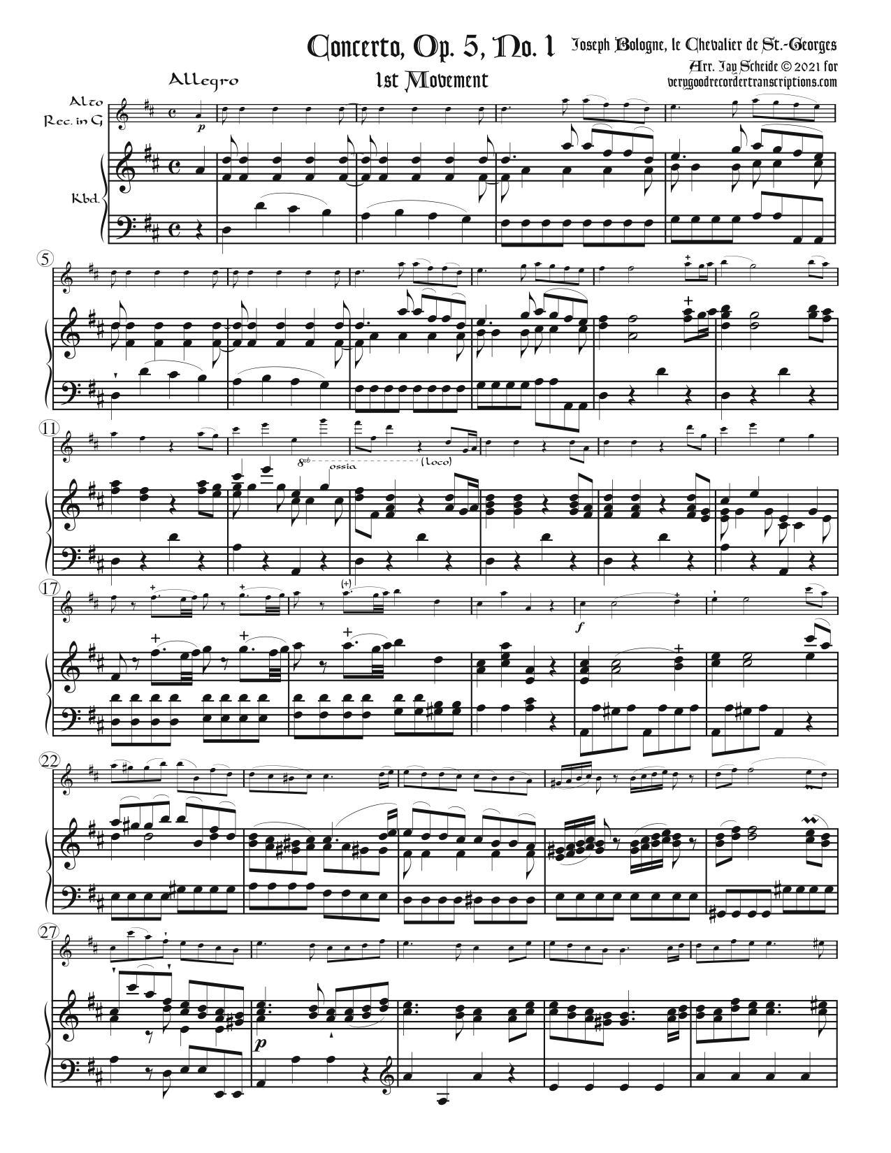 Concerto, Op. 5, No. 1