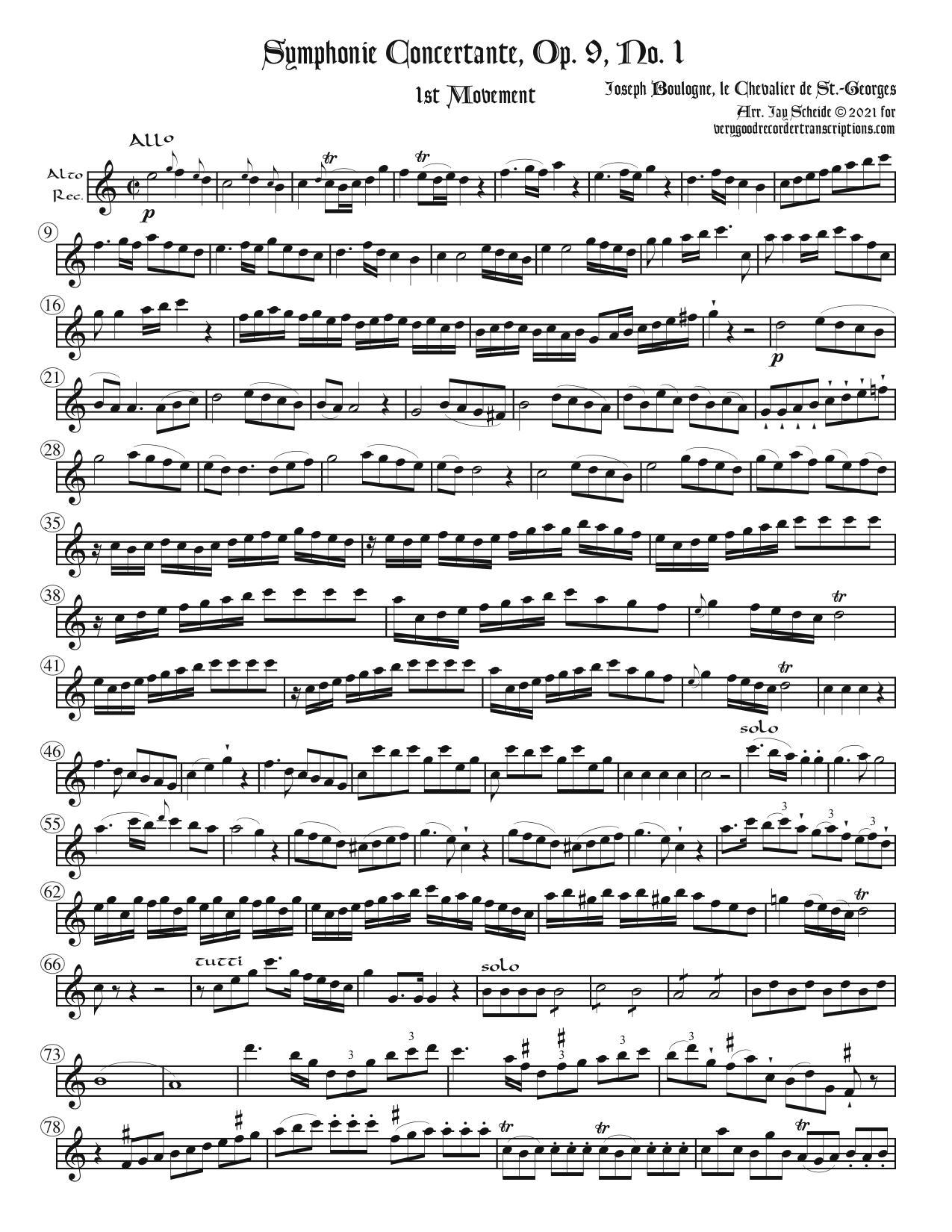 Symphonie Concertante, Op. 9, No. 1