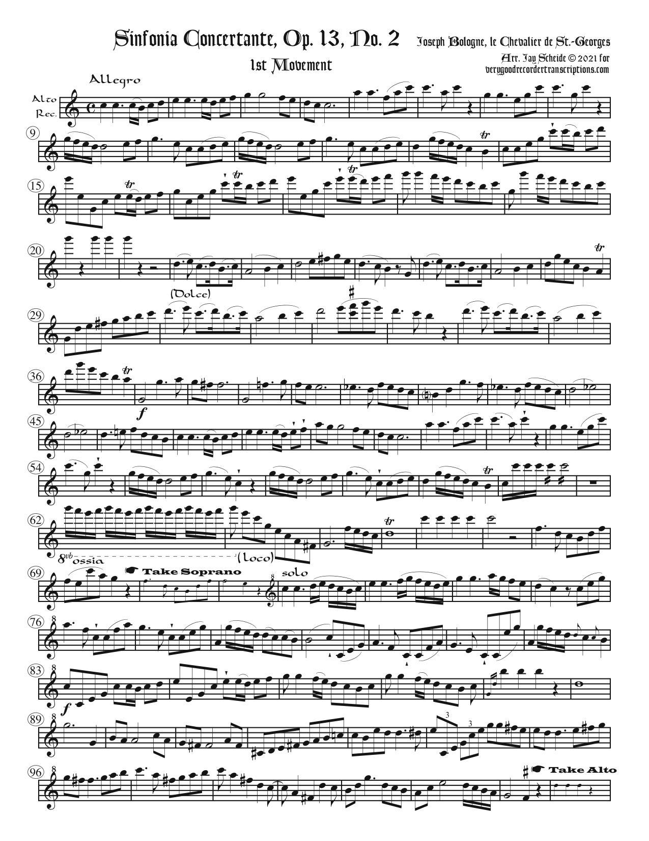 Symphonie Concertante, Op. 13, No. 2