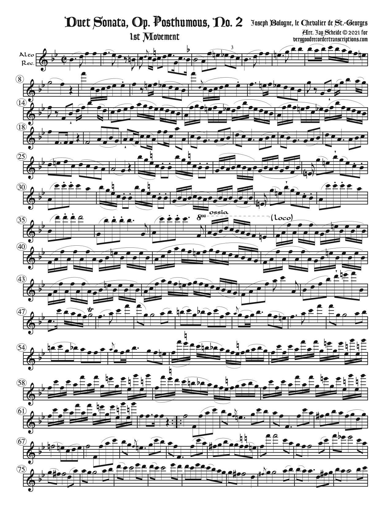 Duet, Op. Posthumous No. 2
