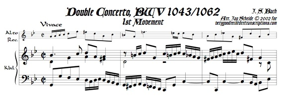 Concerto for 2 Violins, BWV 1043