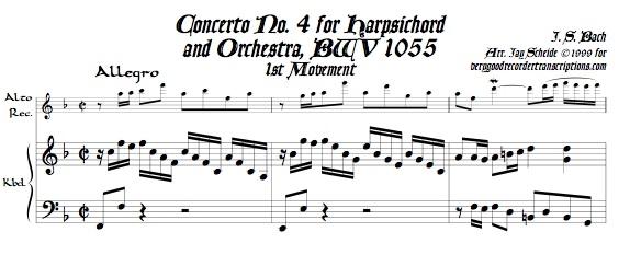 Concerto No. 4, BWV 1055
