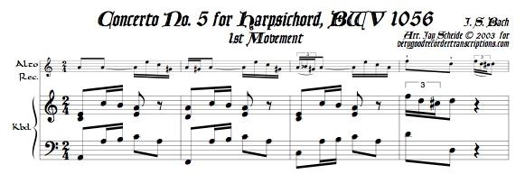 Concerto No. 5, BWV 1056