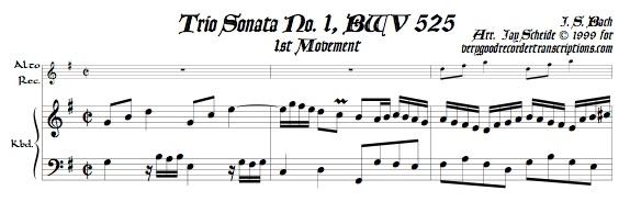 Trio Sonata No. 1, BWV 525