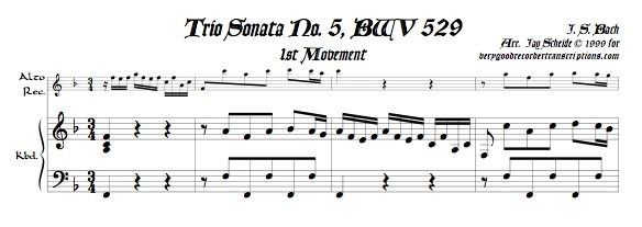 Trio Sonata No. 5, BWV 529