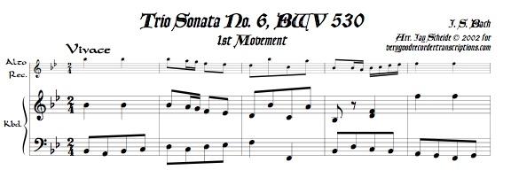 Trio Sonata No. 6, BWV 530