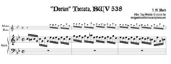 """Dorian"" Toccata, BWV 538 transposed to c dorian"