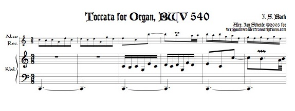 Toccata from BWV 540