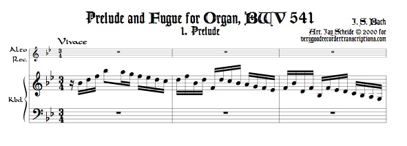 Prelude and Fugue, BWV 541