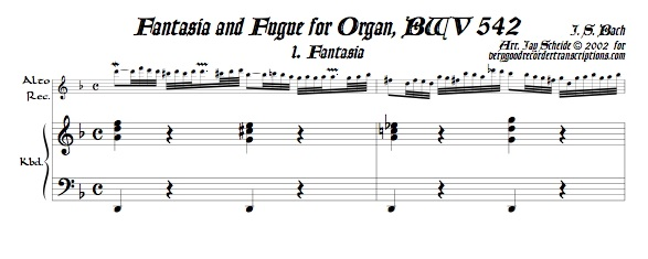 Fantasia and Fugue, BWV 542