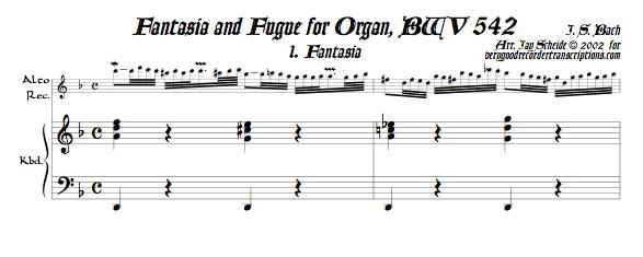 Fantasia and Fugue, BWV 542