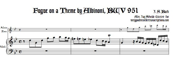 Fugue on a theme by Albinoni, BWV 951