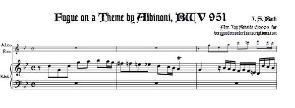 Fugue on a theme by Albinoni, BWV 951