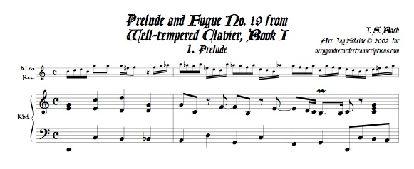 Prélude and Fugue No. 19, BWV 864