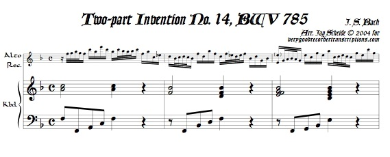 2-part Invention No. 14, BWV 785
