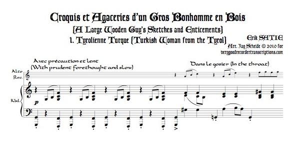 """""""Tyrolienne Turque,"""" from *Croquis et Agaceries d\'un Gros Bonhomme en Bois*, for alto doubling tenor (or soprano)"""
