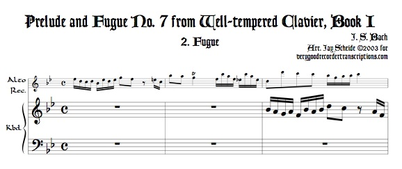 Fugue No. 7, BWV 852/2