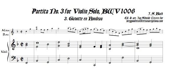 Gavotte en Rondeau from Partita No. 3, BWV 1006