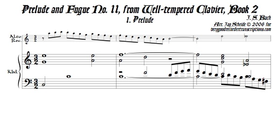 Prélude and Fugue No. 11, BWV 880