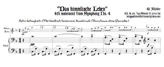 """Das himmlische Leben,"" finale of Symphony No. 4"