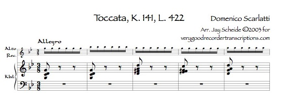 Toccata K. 141, L. 422, P. 271—really hard, medium hard, and easier versions
