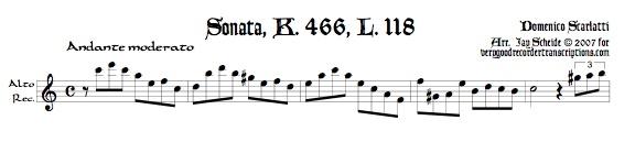 Sonata K. 466, L. 118, P. 501