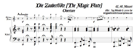 Overture to *The Magic Flute*, K. 620