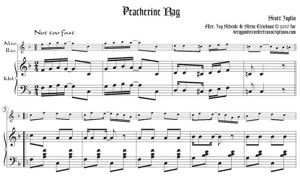 Peacherine Rag