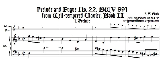Prélude and Fugue No. 22, BWV 891